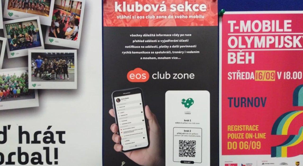 Aplikace eos club zone